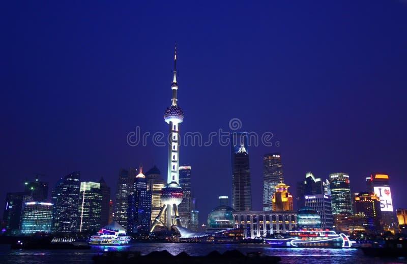 Shanghai-Nacht stockfoto