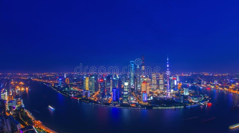 Shanghai-Nacht lizenzfreies stockfoto