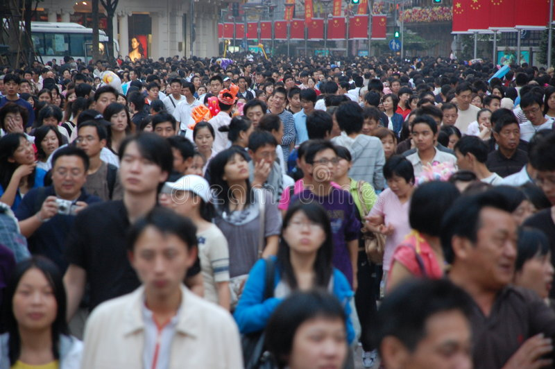 Shanghai National Day 1 Oct 2008 royalty free stock images