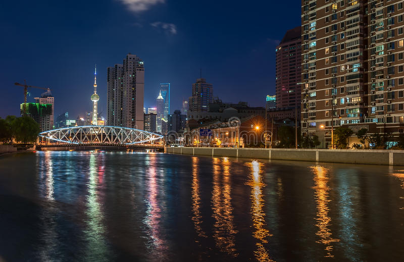 Download Shanghai nocturnal stock image. Image of lights, cityscape - 28174831