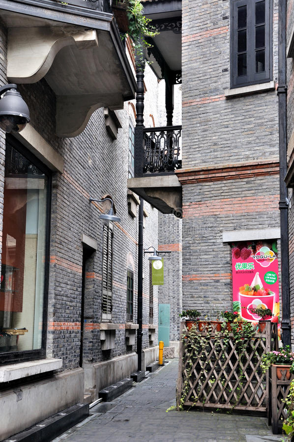 Download Shanghai Old Architecture With Small Shop Editorial Photo - Image: 21951301