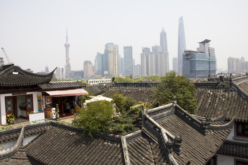 Shanghai old and modern royalty free stock photography