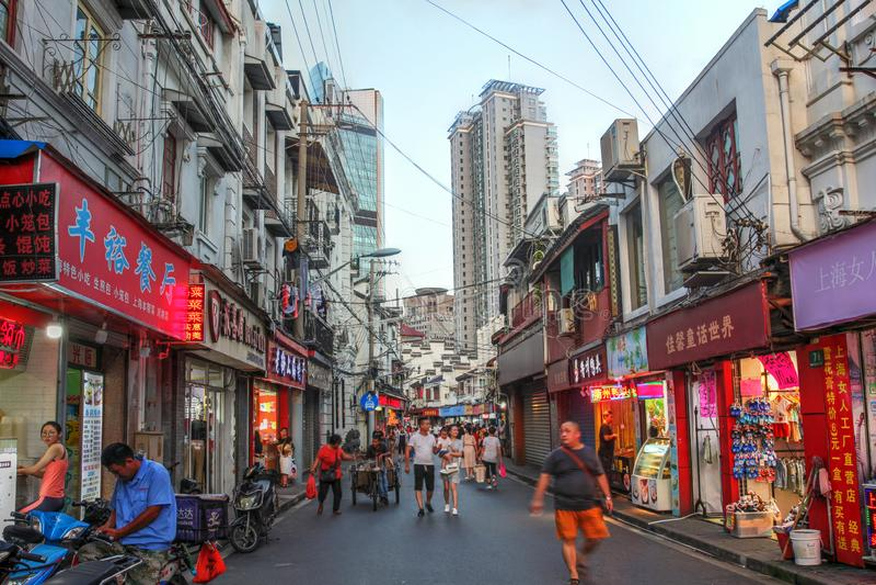 Shanghai Old Street, China royalty free stock photo