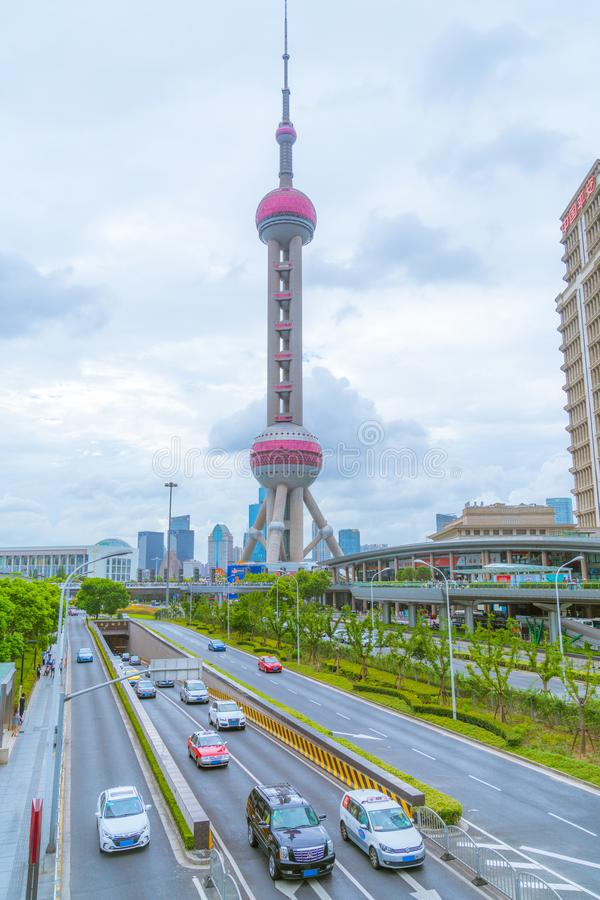 Shanghai Oriental pearl tower. stock photo