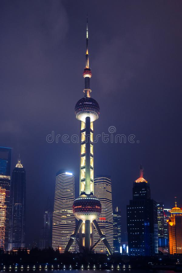 The Shanghai Oriental Pearl Tower royalty free stock images