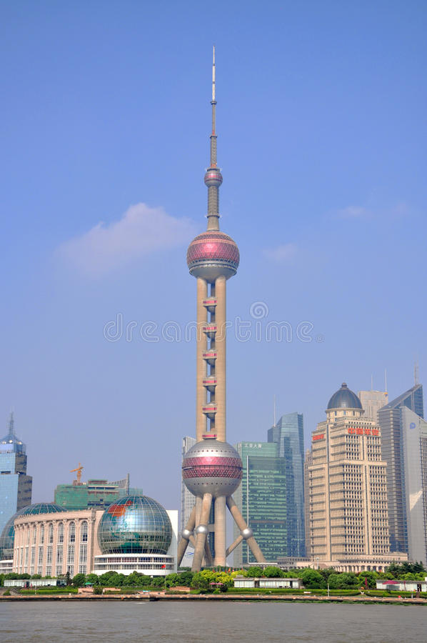 Shanghai Oriental Pearl TV Tower. Shanghai Pudong Financial District, China royalty free stock photography