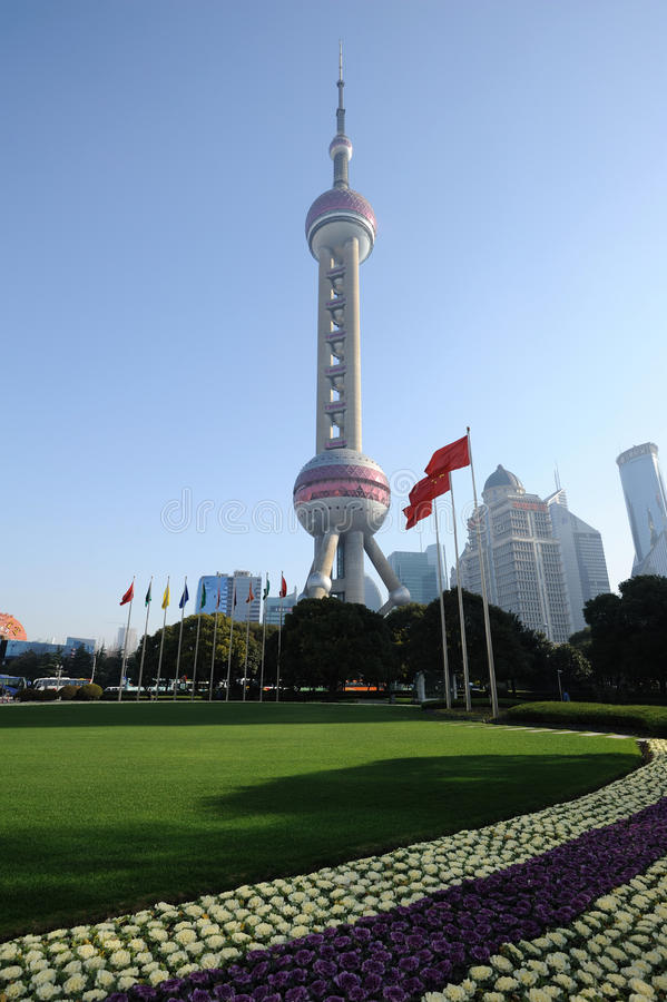 Shanghai oriental pearl tv tower. Oriental Pearl Tower in Shanghai, China stock image