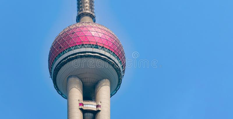 Shanghai Oriental pearl TV tower building in Shanghai Downtown skyline, China. Financial district and business centers in smart. City in Asia. Skyscraper and stock image