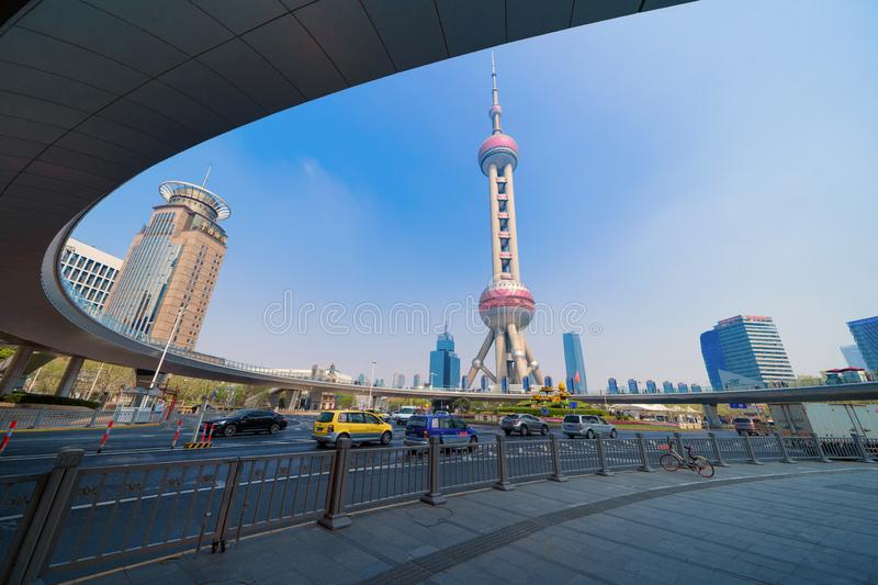 Shanghai Oriental pearl TV tower building in Shanghai Downtown skyline, China. Financial district and business centers in smart. City in Asia. Skyscraper and stock photos