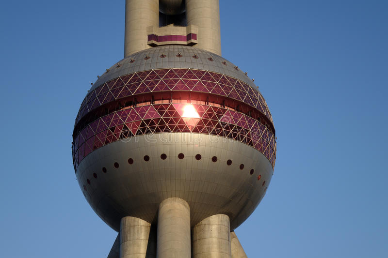 Shanghai oriental pearl tv tower royalty free stock images