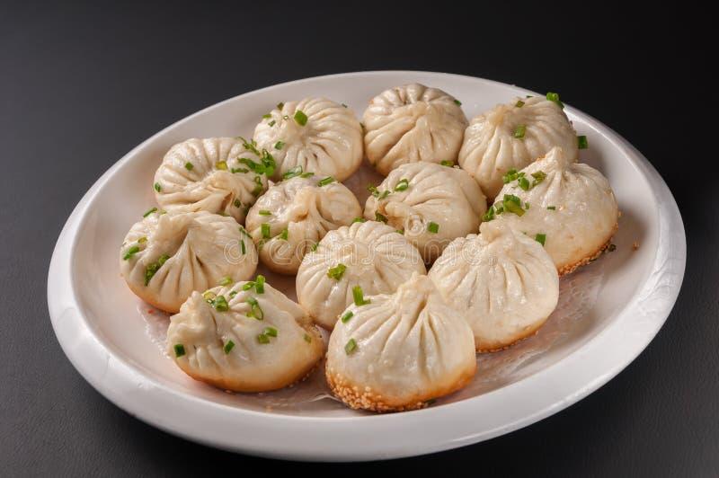 Shanghai Pan-Fried Baozi imagem de stock royalty free