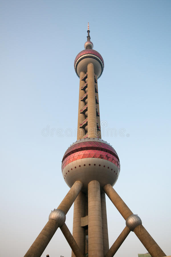 Shanghai Pearl Tower royalty free stock photos