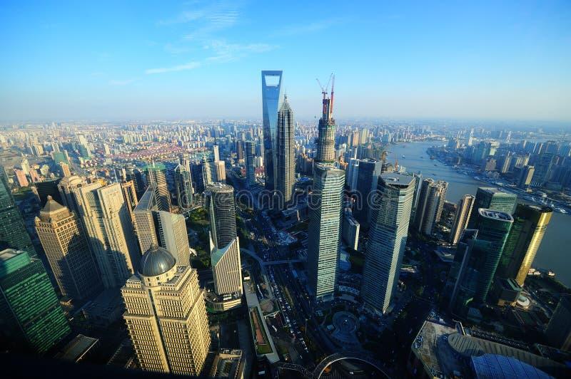 shanghai powietrzny widok zdjęcie stock