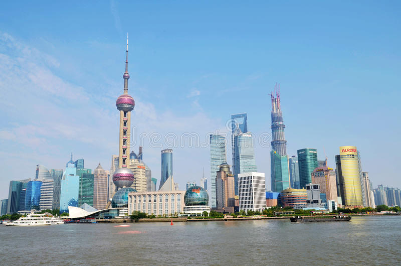 Shanghai Pudong royaltyfri fotografi
