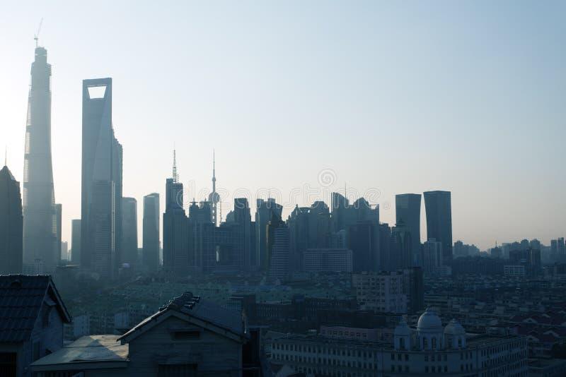 Shanghai Pudong budynki zdjęcie stock