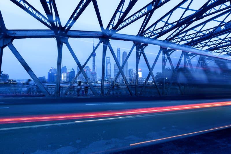 Shanghai Pudong budynki, evening obrazy royalty free