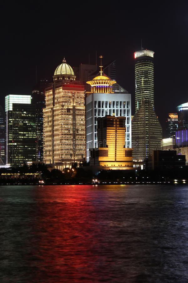 Shanghai Pudong noc obrazy stock