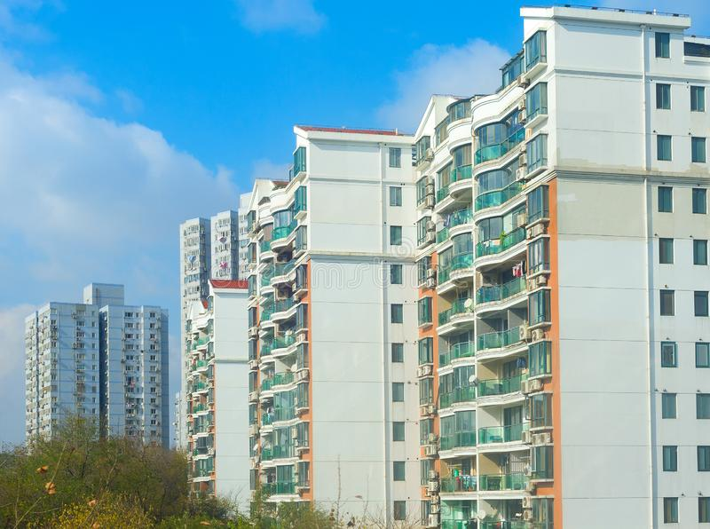 Shanghai residential apartment building China. Typical Shanghai residential condominium building. China stock photography