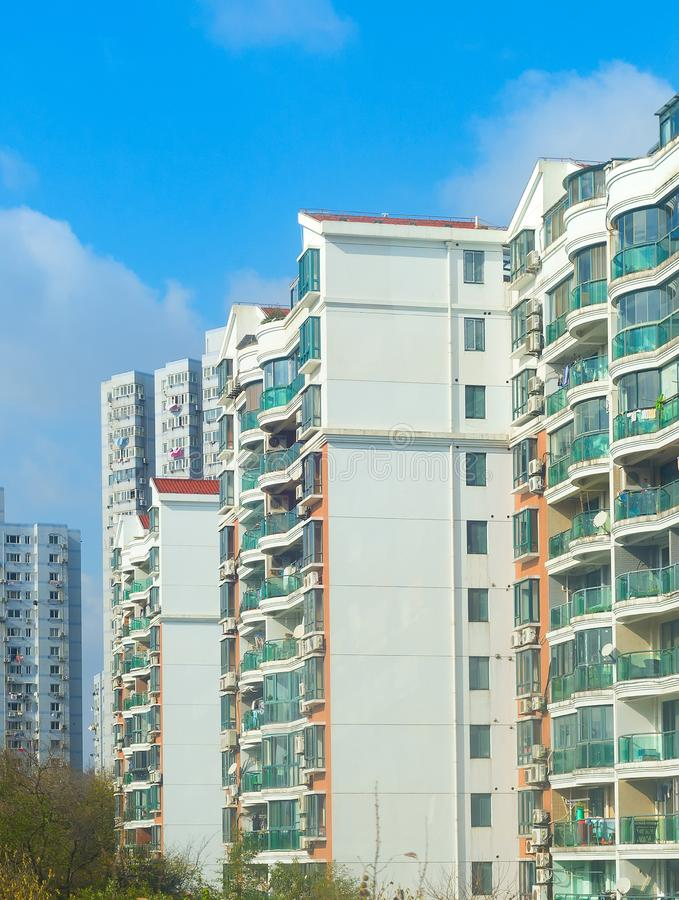 Shanghai residential apartment building China. Typical Shanghai residential condominium building. China stock images