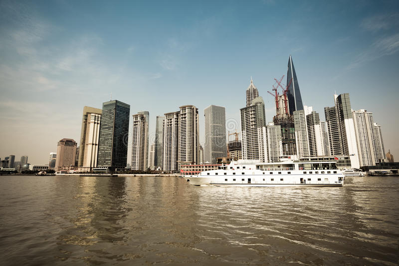 Shanghai Scenery On Board Royalty Free Stock Photos