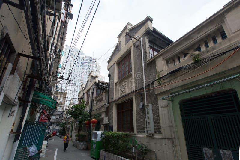 Shanghai Shikumen, an typical old residence building in Shanghai  royalty free stock photos