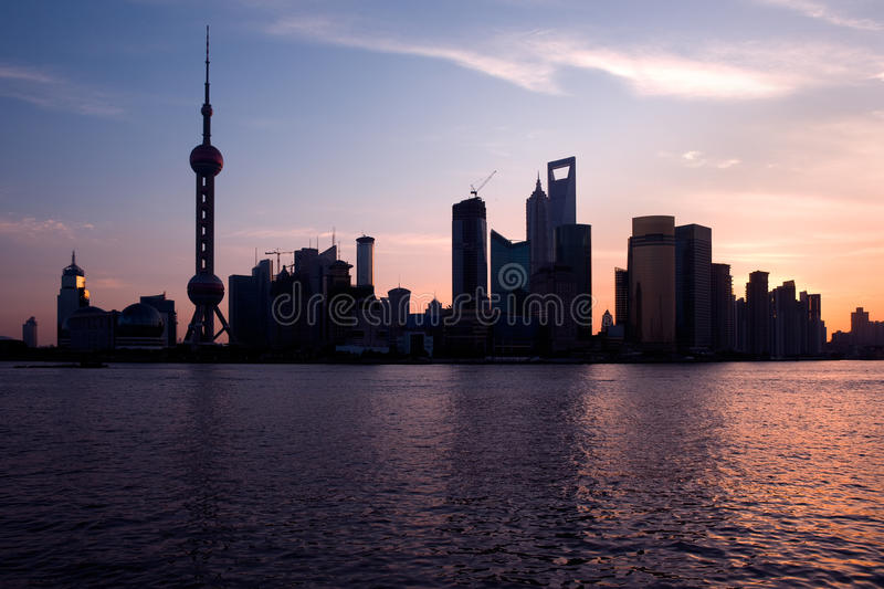 Download Shanghai skyline stock photo. Image of architecture, city - 10616426