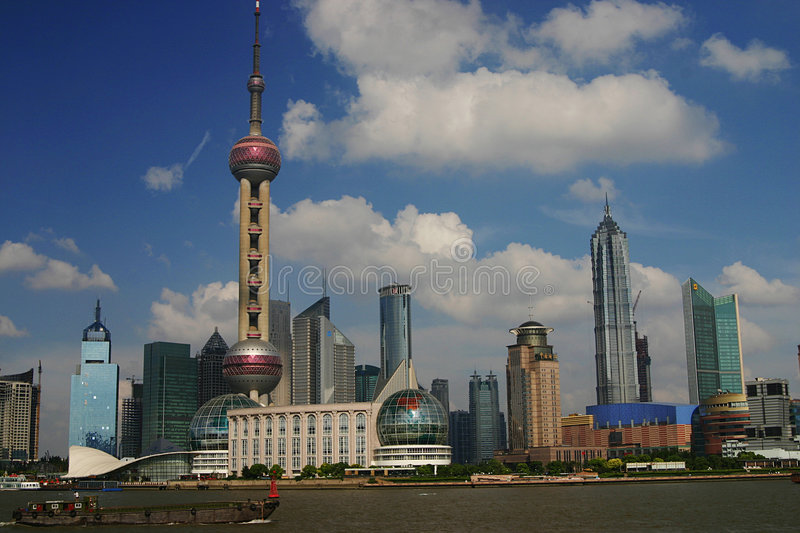 Shanghai Skyline royalty free stock photos
