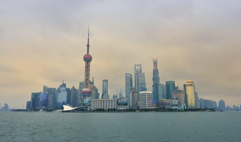 Shanghai Skyline Editorial Stock Photo