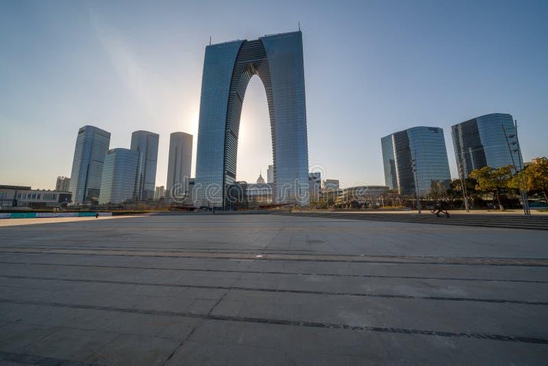 Shanghai Skyline, Blick vom Bund, China stockfotografie