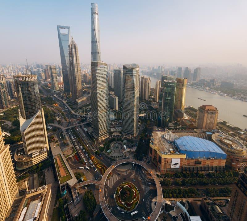 Shanghai Skyline royalty free stock photos