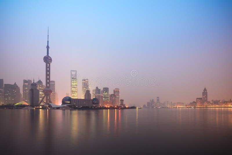 Shanghai Skyline In Dawn Stock Image