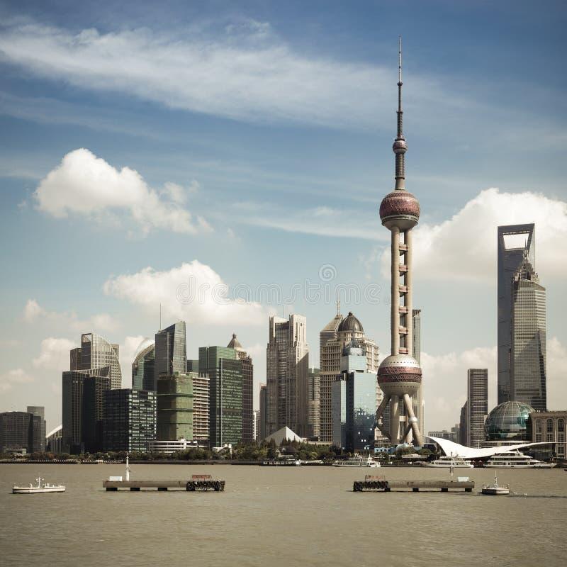 Shanghai Skyline At Daytime Stock Photo