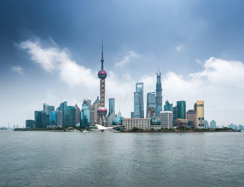 Shanghai skyline stock photos
