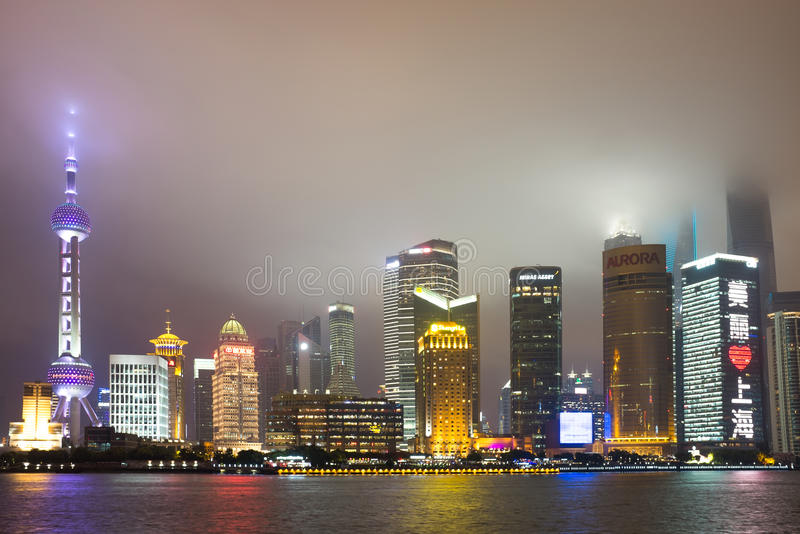 Shanghai skyline, China royalty free stock photography