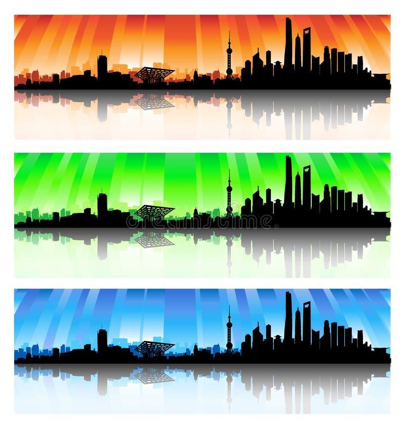 Download Shanghai Skyline Set Stock Photography - Image: 32006262