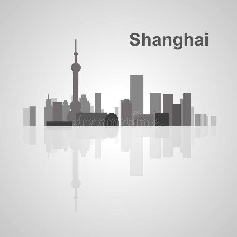 Shanghai skyline for your design. Concept Illustration stock illustration