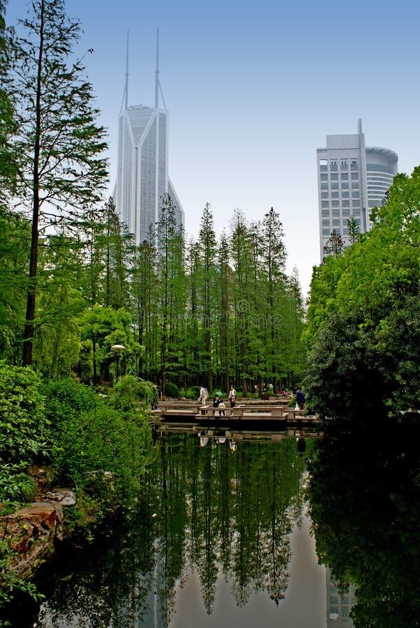 Shanghai skyscrapers royalty free stock image