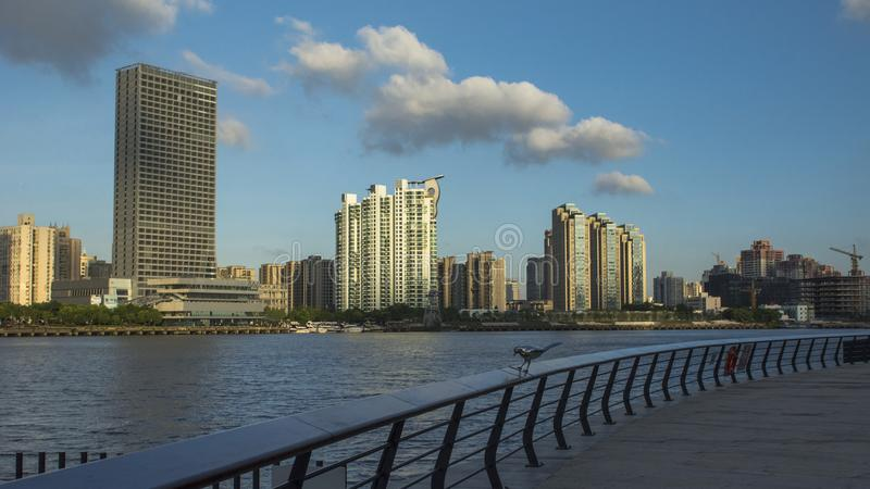 The Shanghai South Bund. Area is one of the earliest urban areas in Shanghai. This along the Huangpu River, Xinkaihe Road to the south, until the Nanpu Bridge stock photo