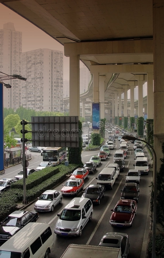 Shanghai-Störung lizenzfreie stockbilder