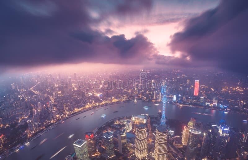 Shanghai stadshorisont royaltyfria foton