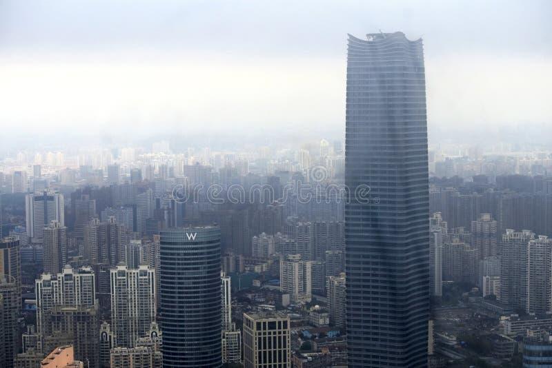 Shanghai stadsskönhet, porslin royaltyfria bilder