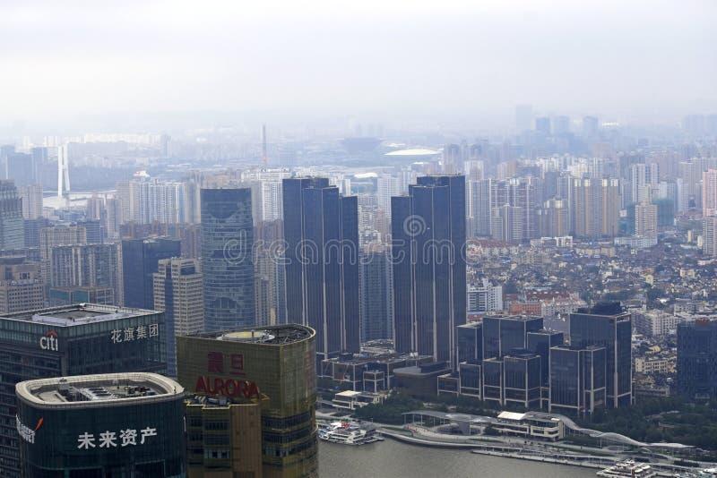 Shanghai-Stadtschönheit, Porzellan lizenzfreies stockbild