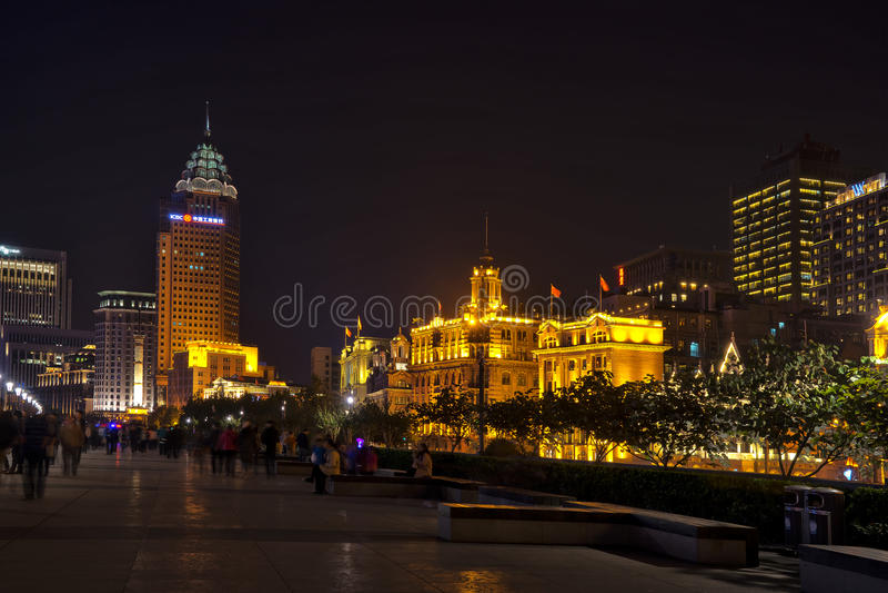 Shanghai street night royalty free stock photography