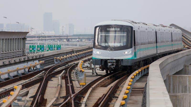 Shanghai tunnelbana arkivfoton