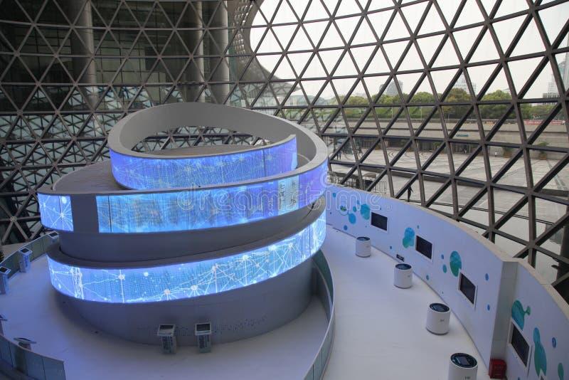 Shanghai vetenskaps- & teknologimuseum royaltyfri fotografi
