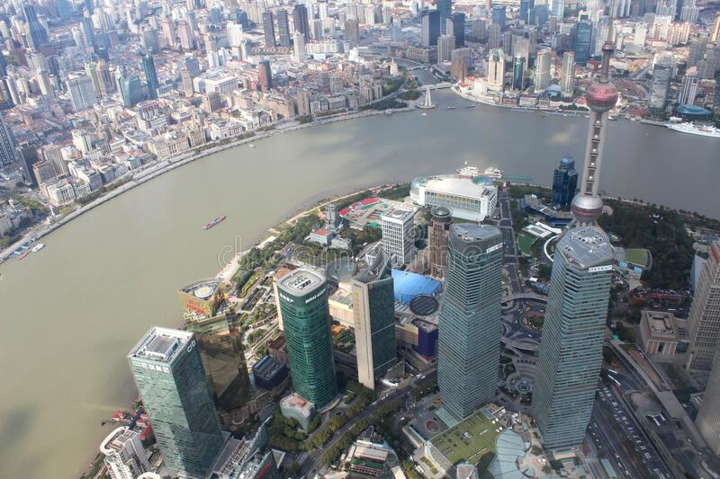 Shanghai views by day stock photo
