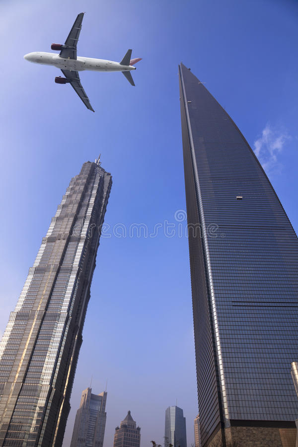 Shanghai world financial center stock photography