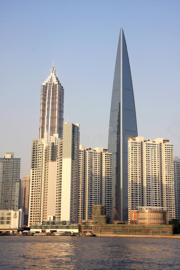 Shanghai World Financial Center. Is the china's highest building royalty free stock photo