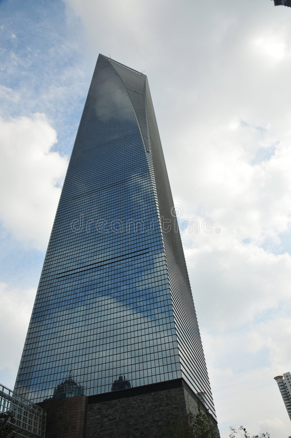 Shanghai World Financial Center royalty free stock image