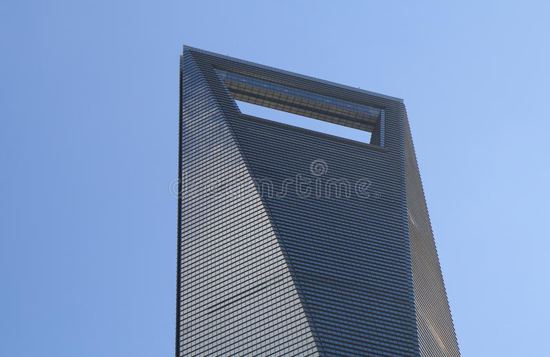 Shanghai World Financial Center. Building in Shanghai China royalty free stock photography